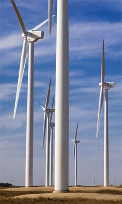 This website is powered by and cooled by wind farms in the state of Texas